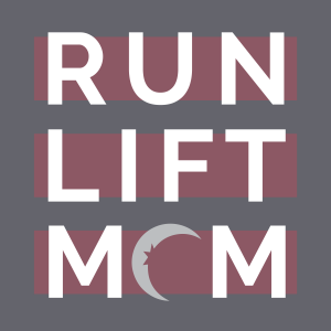 run lift mom logo with Zyia active moon