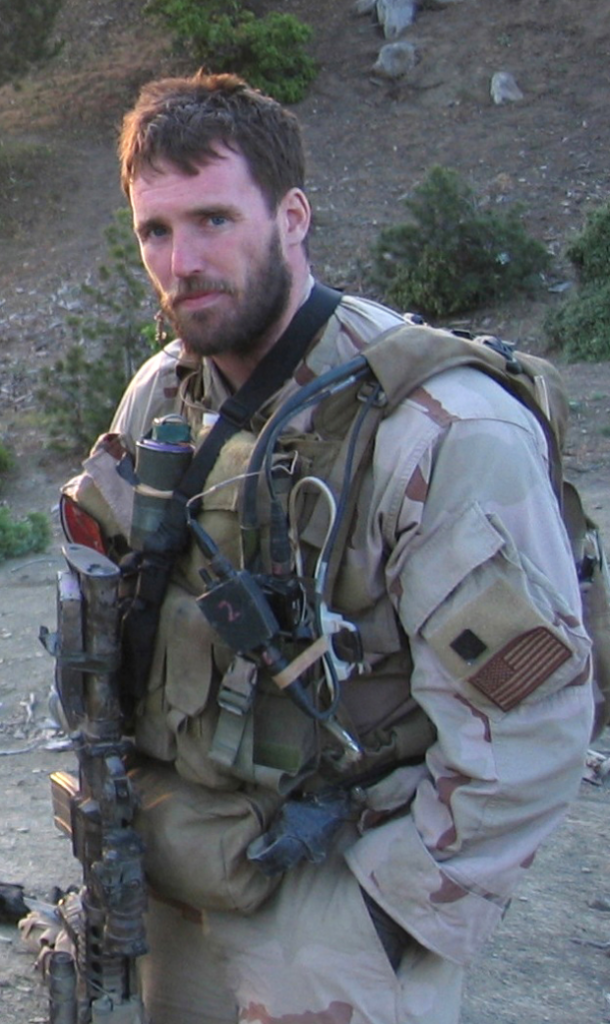 Lt Michael Murphy looking at camera