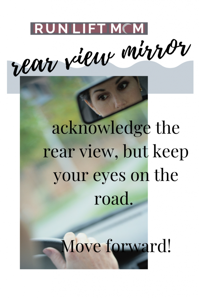 rear view mirror metaphor with text and mirror image