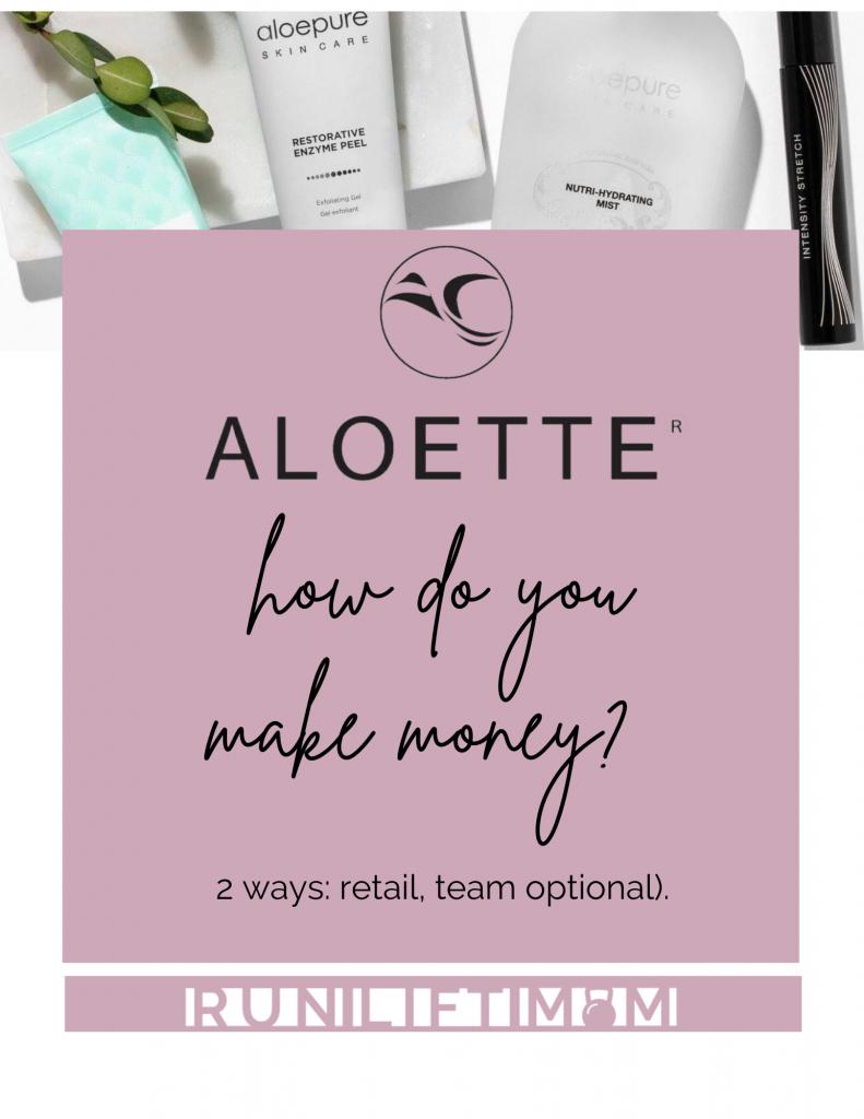 How do Aloette reps make money?
